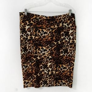 LuLaRoe Leopard Print Stretch Cassie Pencil Skirt